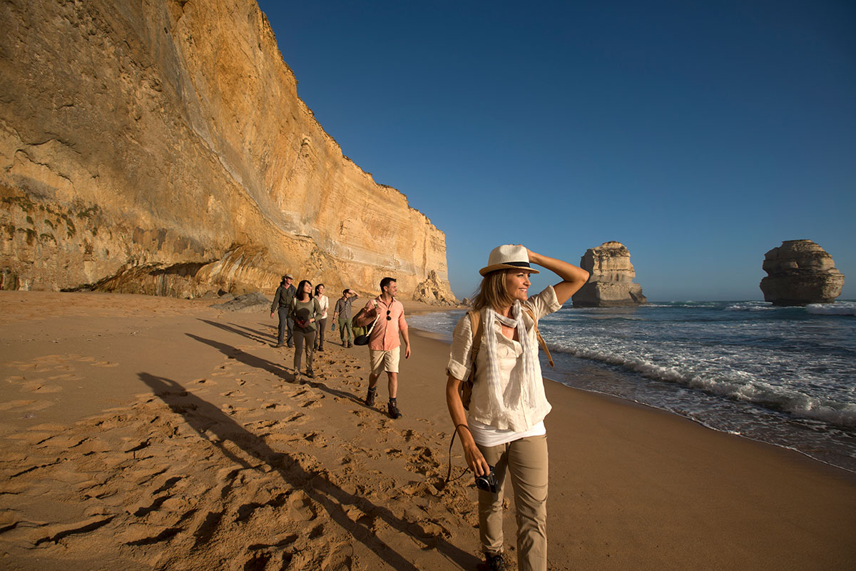 Explore the beautiful Victorian coastline on the Twelve Apostles Lodge Walk with Great Walks of Australia.
