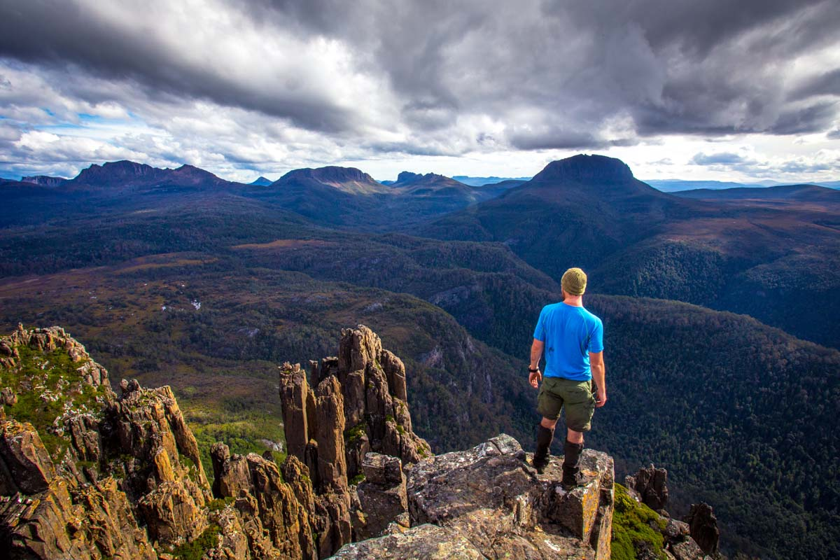 Experience breathtaking Tasmanian views on the Cradle Mountain Huts Walk.