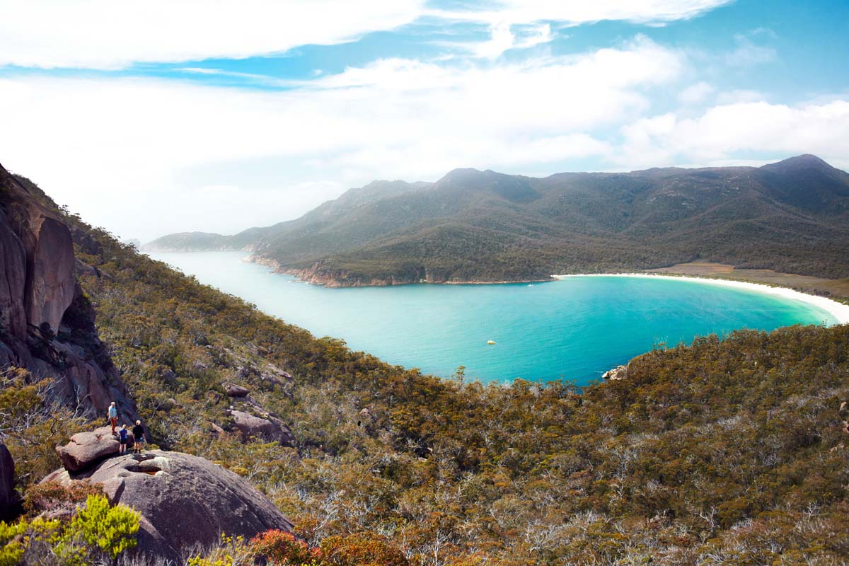 Take in magnificent views of Wineglass Bay in Tasmania with Great Walks of Australia.