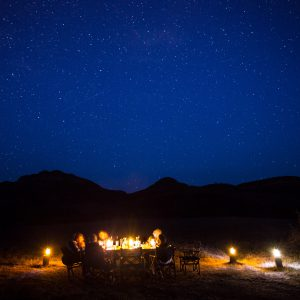 Dining under the starry sky